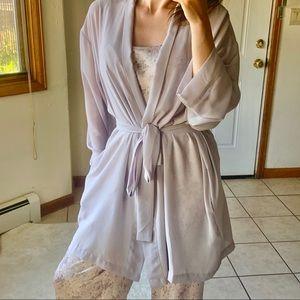 Victorias Secret robe lavender sheer